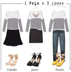 Resultado de imagem para uma peça de roupa e varios looks