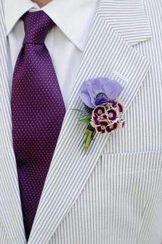 Novio/ gris, lila y violeta