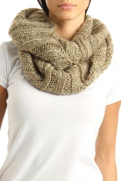 Snood Scarf In Mocha. SNOOD! Oh, also, ADORABLE!