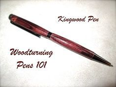 Woodturning for Beginners: How to Turn a Pen by Glass Impressions - YouTube