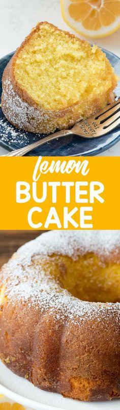Easy Lemon Butter Cake - Crazy for Crust