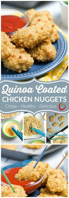 Quinoa Coated Chicken Nuggets   Super Healthy Kids   Food and Drink
