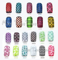 NEW Easy Use Nail Art Stamping Stencils Template Tips Vinyls Guides Design Stickers Recycle