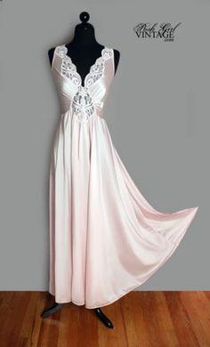 Vintage Pink Olga night gown....stunning!