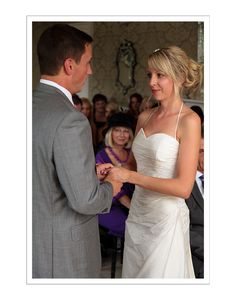 A loving moment during a wedding ceremony at the East Close Hotel
