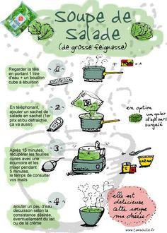 """Soupe de salade """"Tambouille"""" CUISINE"""