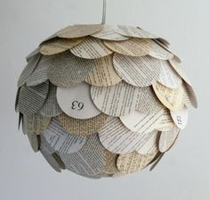 Artichoke Mixed Book Page Pendant Light « Grassroots Modern – A shelter blog focusing on affordable modern furniture and accessories.
