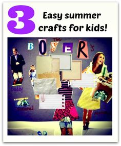 Easy Summer Crafts for Kids-Laminate over these to make them last longer! http://www.swingline.com/swingline/us/us/s/2873/laminators.aspx
