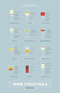 Classic wine cocktails.
