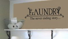 LAUNDRY The never ending story LAUNDRY Room  VInyl by wallstory, $19.99