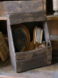 Sweet Liberty Homestead primitive wall box. We LOVE primitives! Come follow us at ( Shannon McConnachie ) as we're gearing up to make primitives again! We're super excited!