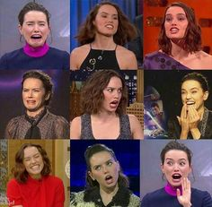 The adorable faces of Daisy Ridley