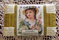 Potager Natural LAVENDER Pure Vegetable Bar Soap France 6.2 Ounce Rare New #Potager