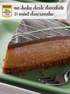No-Bake Dark Chocolate & Mint Cheesecake