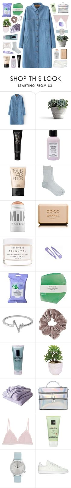 """""""driving at 90 down those country lanes"""" by deep-breaths ❤ liked on Polyvore featuring NARS Cosmetics, Davines, Maria La Rosa, MILK MAKEUP, Chanel, Herbivore, Almay, Jewel Exclusive, Topshop and Clinique"""