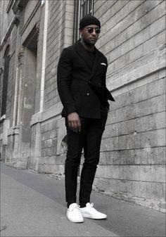 Mens Fashion Tips .Mens Fashion Tips All Black Fashion, All Black Outfit, Black Outfits, All Black Men, Color Fashion, Classy Fashion, Petite Fashion, French Fashion, Indian Fashion
