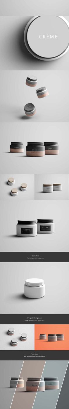 Free cosmetic beauty jar PSD mockup #beauty #retail #jar #container #makeup