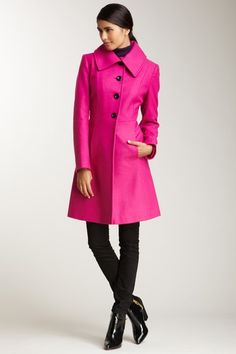 Nicole Miller  A-Line Coat
