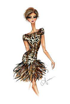 Fashion Illustration Print, Naeem Khan Fall 2014