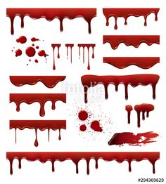 Blood liquid, blob and spot, drip splatter illustration - Buy this stock vector and explore similar vectors at Adobe Stock Vector Pop, Color Vector, Vector Free, Calligraphy Borders, Transportation Logo, Blood Tattoo, Zombie Drawings, Ticket Design, Bee Honeycomb