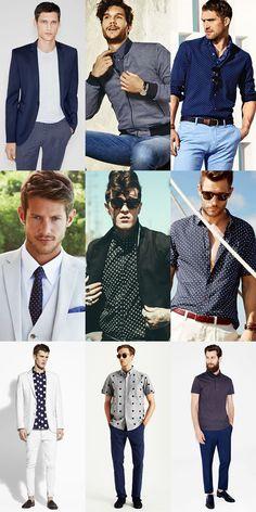 2014/15 Summer Menswear Prints & Patterns: Polka Dots Lookbook Inspiration