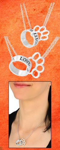 Unconditional Love Paw Print Necklace $14.95