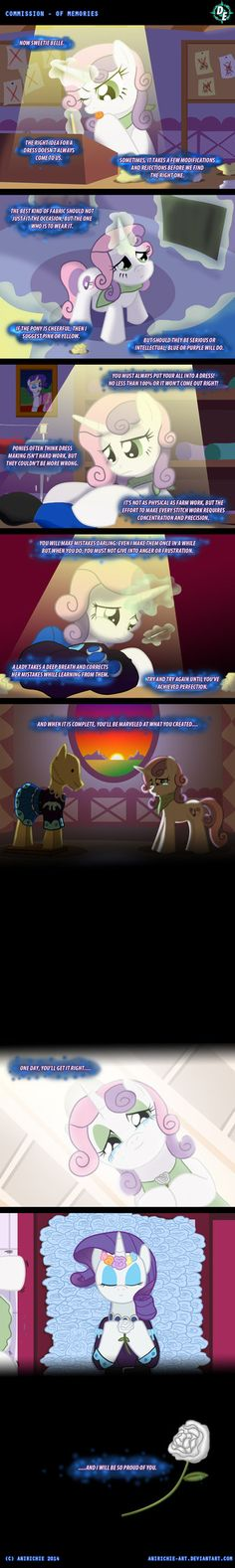 Even the tiara was made from rarity's friends... I almost cried.