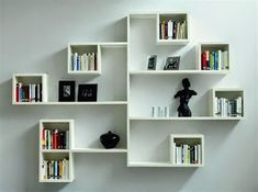 Decoration Wall Hanging Bookshelf Designs Closed Wall Shelves Bedroom Wall Shelving Units Wall Mounted Bookshelves for Small Space Wall Hanging Bookshelf, Wall Mounted Bookshelves, Wall Shelf Unit, Wall Shelving Units, Bookshelves In Bedroom, Bookcase, Shelving Ideas, Bedroom Wall Shelves, Corner Shelving