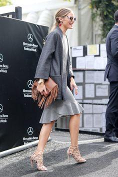 Olivia Palermo wearing Carolina Herrera