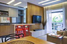 ambiente integrado sala cozinha