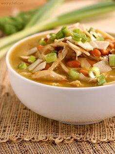 Green Chicken Enchilada Soup