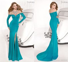 Wholesale 2014 Sheer Neckline and Back Long Sleeve Evening Dresses Mermaid Sweep-train Zip-up Sexy Prom Gowns Free Shipping Celebrity Dress Tarik Ediz, Free shipping, $157.0/Piece | DHgate Mobile