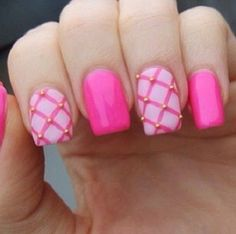 pink  nail art 24 - 65 lovely Pink Nail Art Ideas  <3 <3 love it definitely will try this design out