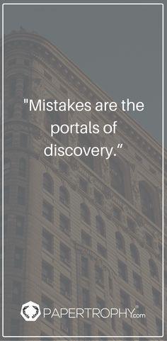Mistakes can lead to something wonderful! #QOTD