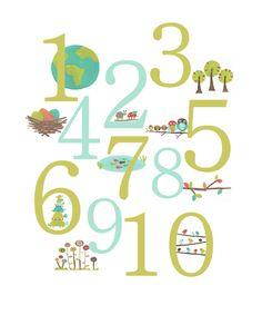 LLUVIA DE IDEAS: Descargables: números para Educación Infantil