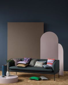 """M&O: Scenes of Splendour by Ferm Living.""""The new collection acts as a prelude to dramatic moments in the midst of a serene scenery,"""" said the Danish brand. """"Situated in the calm before the storm, it is the realisation of our vision of Nordic simplicity meeting the decadence of bygone eras."""""""