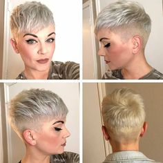 Love this gorgeous, bold pixie from @shawnuh_klaree - ✂️❤️✂️❤️✂️❤️#pixiepalooza