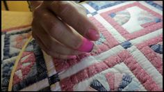 detailed hand quilting video, using a thimble, holding the needle, rocking motion, best lighting for hand quilting, how to thread a needle and tie a knot. fo...
