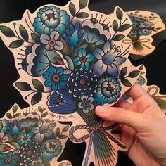 Making these huge bouquet magnets to sell at the South Florida Tattoo Convention…