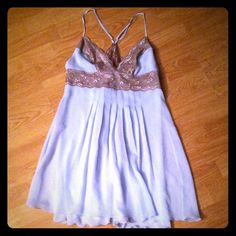 Victoria Secret Very Sexy Babydoll lingerie Baby blue and brown lace baby-doll lingerie. Very sexy line. Never worn. Bought for a special occasion and didnt end up using it. Gorgeous!!! Victoria's Secret Intimates & Sleepwear