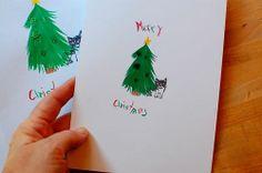 digitize children's art for the card!
