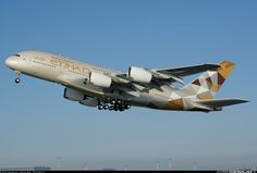 First flight of ETIHAD's first A380, November 25, 2014 ~ photo by Andre Oferta
