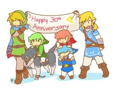 HAPPY 30th ANNIVERSARY ZELDA! by milieus