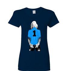 Marilyn Monroe Carolina Panther Ladies T-shirt Sports Clothing
