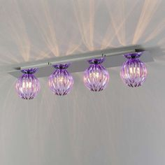 Shop for Ceiling Lamp Shine 4 chrome with purple online! Purple Kitchen, Mason Jar Lamp, Kitchen Styling, Ceiling Lamp, Elegant, Table Lamp, Lighting, Purpose, Home Decor