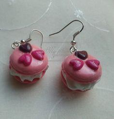 Pendientes macarons rosas