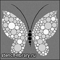 Бабочка 3 • Трафарет для декора Бабочка 3 • для рисования, росписи и декора