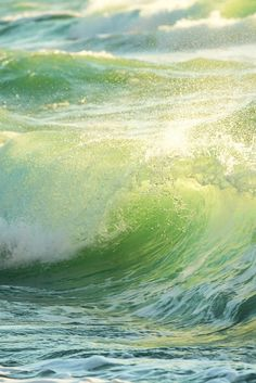 Ocean wave breaking down, sunrise shot by Valentin Valkov on No Wave, Water Waves, Sea Waves, Beautiful Ocean, Beautiful Beaches, Green Beach, Ocean Scenes, Photos Voyages, Sea And Ocean