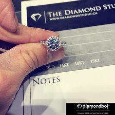 2.5ct round shared bead halo design! One lucky girl on Friday is getting this! #diamond #diamonds #wedding #weddings #engagement #ring #rings #bride #brides #jewellery #jewelry #halo #diamondboi