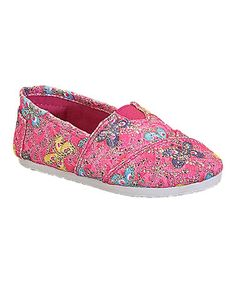 Another great find on #zulily! Fuchsia Butterfly Tomy Slip-On Shoe by Belladia #zulilyfinds